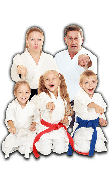 Martial Arts Lessons for Families in Naperville IL - Sitting Group Family Banner