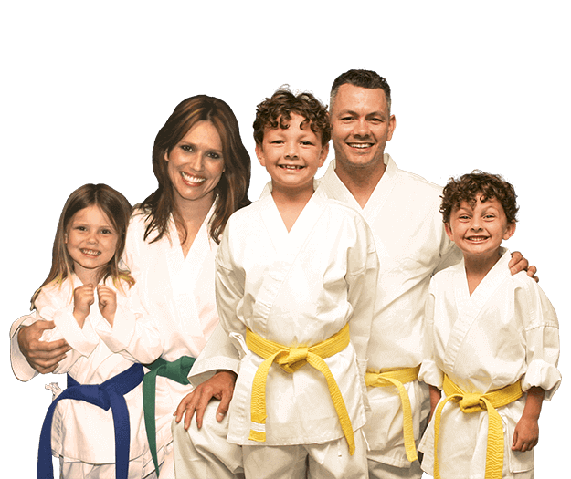 Martial Arts Lessons for Families in Naperville IL - Group Family for Martial Arts Footer Banner